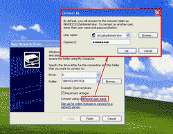 Map Network Drive using different user name