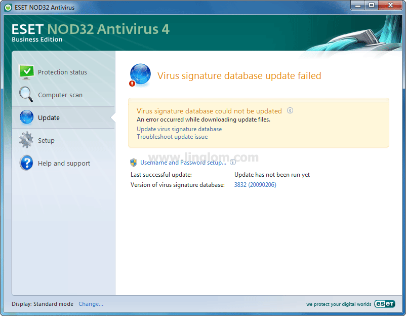 database of nod32 anti-virus from Virus Signature Update for Nod32