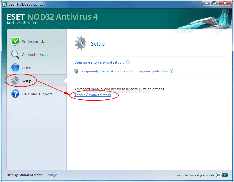 Tip] enable or disable windows update notifications in eset nod32.