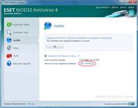 Successfully update virus signature database of Nod32 Antivirus