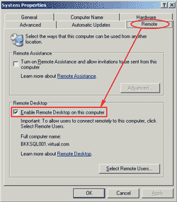 Enable Remote Desktop Connection