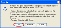 Copy the existing Permissions