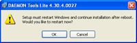 Setup must Restart Windows