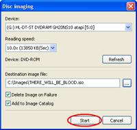 Start Create an ISO Image