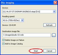Create MDF/MDS files