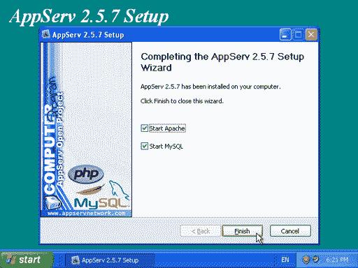 How to setup Apache web server using AppServ - linglom com