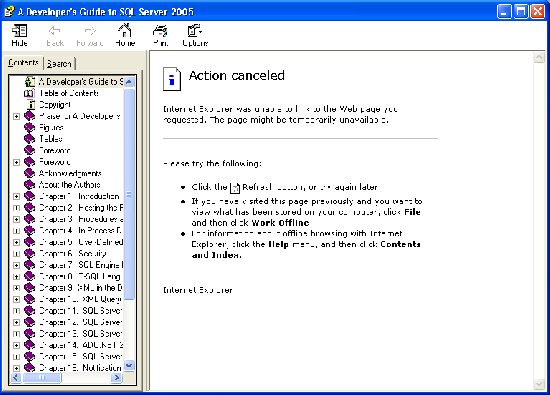 Can't view a remote chm file