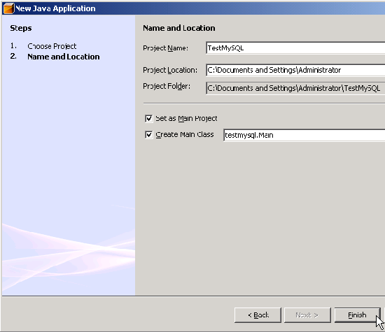 Create new NetBeans's project