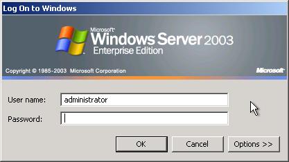 Windows login screen