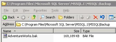 The backup file