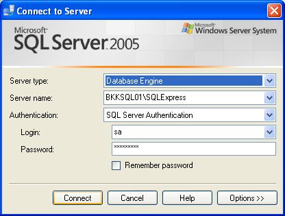 Login to remote SQL Server