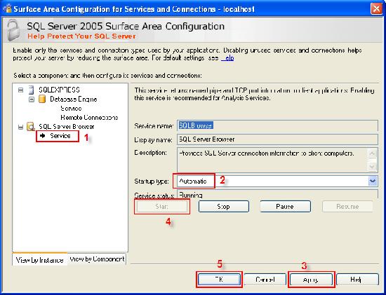 Start SQL Server Browser