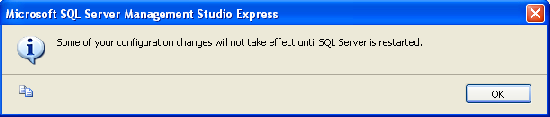 SQL Server need restart