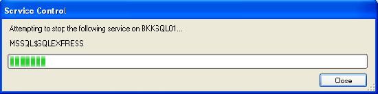 Restarting SQL Server Service