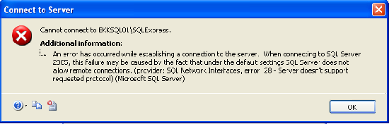 SQL Server does not allow remote connection