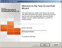 New Access Rule Wizard