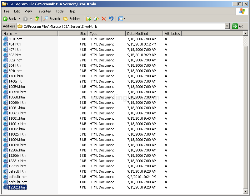Customize HTML Error Messages on ISA Server 2006 - Linglom com