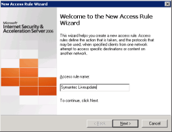 Create New Access Rule
