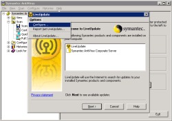 Configure Symantec Antivirus options