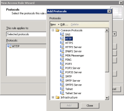 Select HTTP protocol