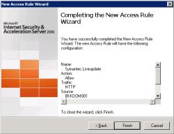 Finish create firewall rule