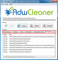 AdwCleaner - Finished Scanning