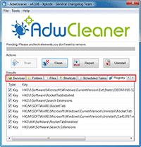 AdwCleaner - Finished Scanning