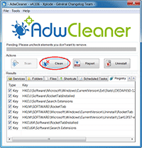 AdwCleaner - Clean