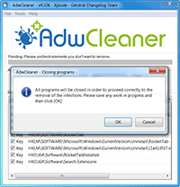 AdwCleaner - Close All Programs