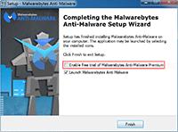 Malwarebytes Anti-Malware Installation - Finished