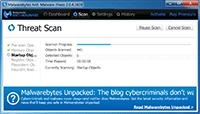 Malwarebytes Anti-Malware - Scanning