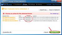 Malwarebytes Anti-Malware - Scanning Result