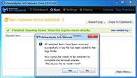 Malwarebytes Anti-Malware - Restart PC