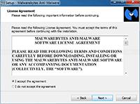 Malwarebytes Anti-Malware Installation - License Agreement