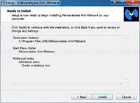 Malwarebytes Anti-Malware Installation - Ready to Install