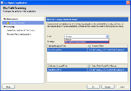 Configure host for the application