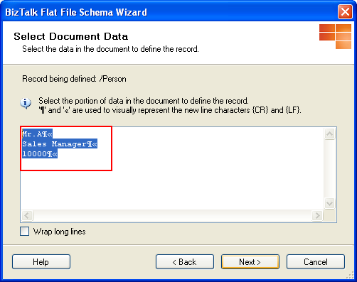 Select Document Data