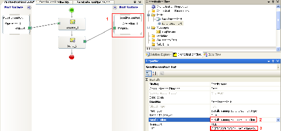 Change pipeline and receive location