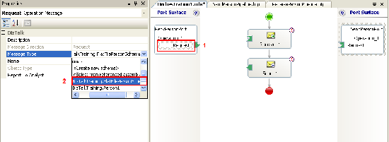Change message type on ports