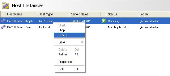 Restart the host server