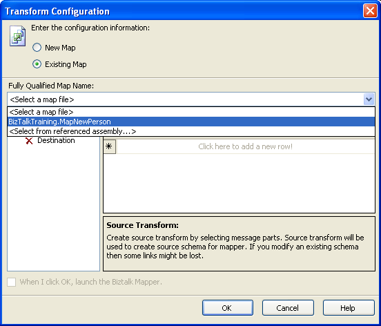 Select existing map file