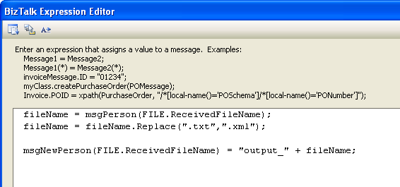 Alter the code on Message Assignment