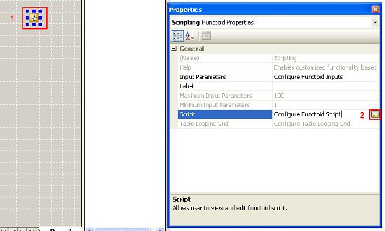 Click to configure script