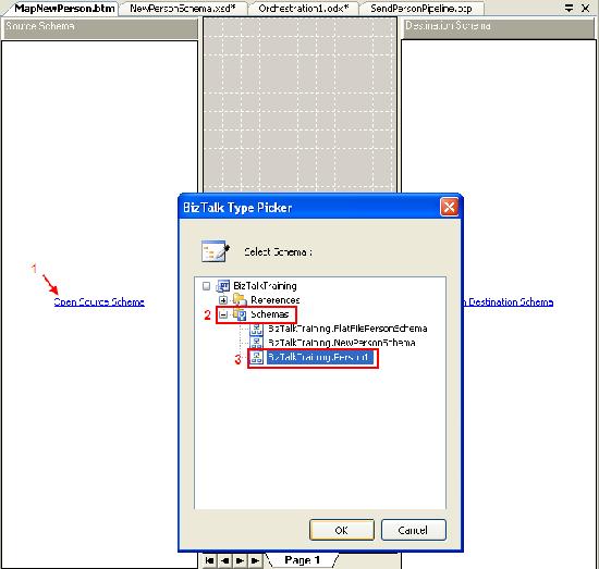 Set Source schema