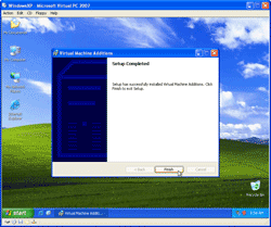 Finish Installing Virtual Machine Additions