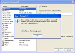 Virtual Machine Settings