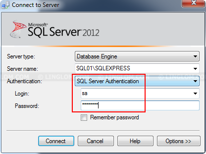Change Authentication Mode on SQL Server 2012 Express