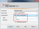 Connecting to SQL Server using SQL Server Authentication mode