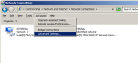 Advanced Settings in Network Connections