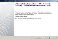 Welcome screen for preparation tool